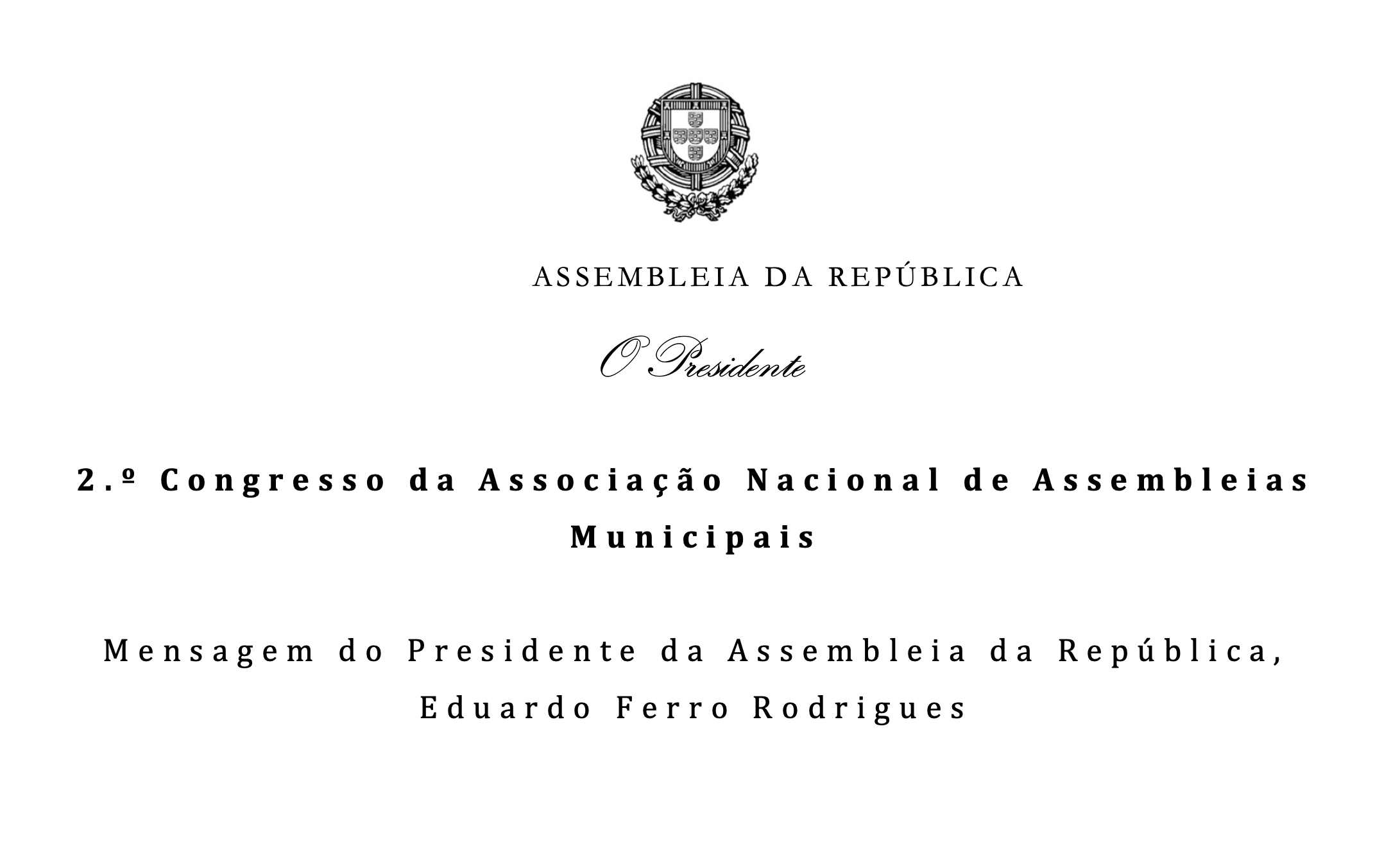 Presidente da Assembleia da República